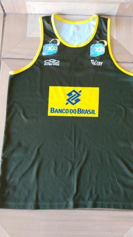 Camisa Oficial Da Seleção Brasileira De Vôlei Retrô