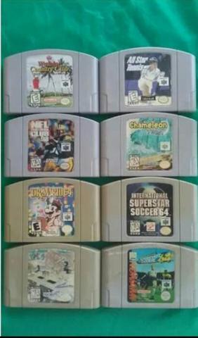 Lote De 7 Fitas Do Nintendo 64 Originais