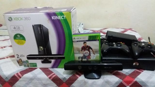 Xbox 360 slim 4g modelo  usado