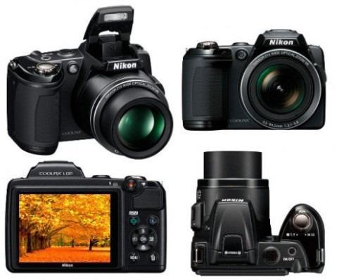 Câmera digital Nikon CoolPix L120 + cartão de memória SD
