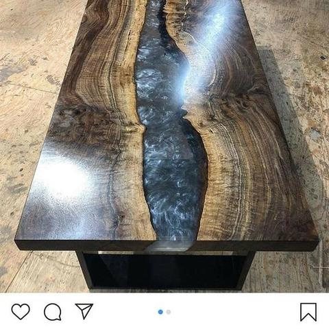 Mesas resinadas River table sobe medida, parcelamos em ate