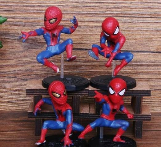 Kit Do Homem Aranha Spider Man 4 Miniaturas Marvel