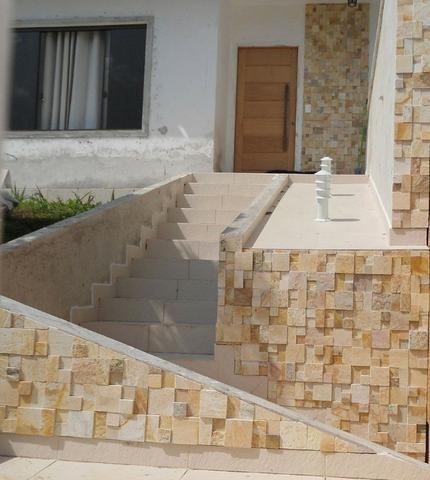 Mosaico de Pedra São Tomé Variado Solto 3D Revestimento