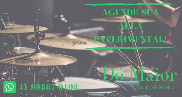 Aulas de bateria - escola de música dó maior