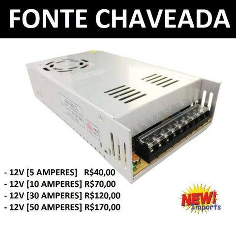 Fonte de Alimentação (Chaveada 12V) 5a - 10a - 30a - 50a