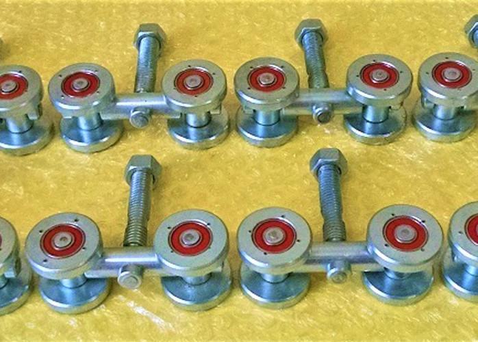 Rodizio Stanley quadruplo para portões de correr lote com 8