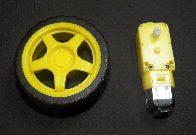 Roda Pneu Motor Dc 3 A 6v 2wd C Redução Chassi Carro