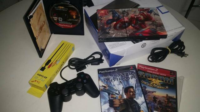 Playstation 2 completo + 3 jogos originais