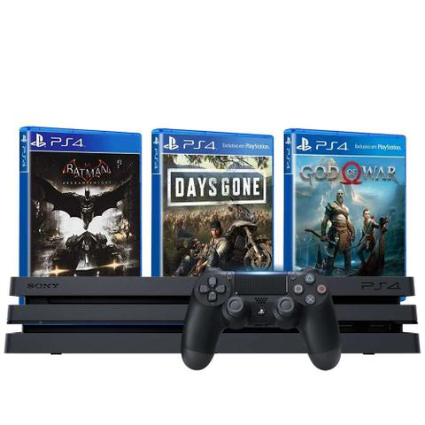 Playstation 4 Pro 1TB Bundle 3 jogos - Garantia de 6 Meses
