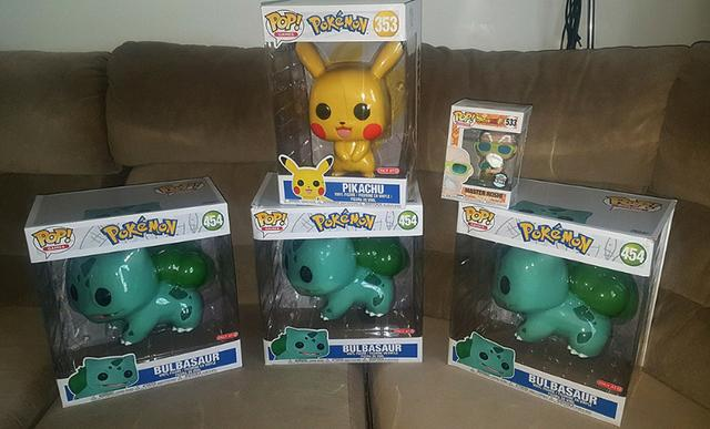 "Funko Pop Pikachu 10"" Bulbasaur 10"" polegadas #Target"