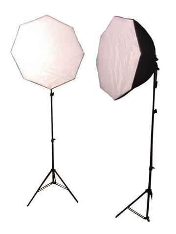 Kit 2 Softboxes Greika semi-novas com lâmpadas TL-04