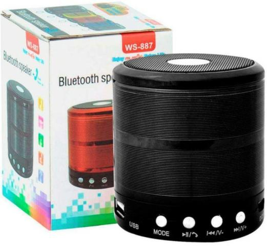 Mini Caixa De Som Portátil Bluetooth Mp3 Usb Sd -Entrega