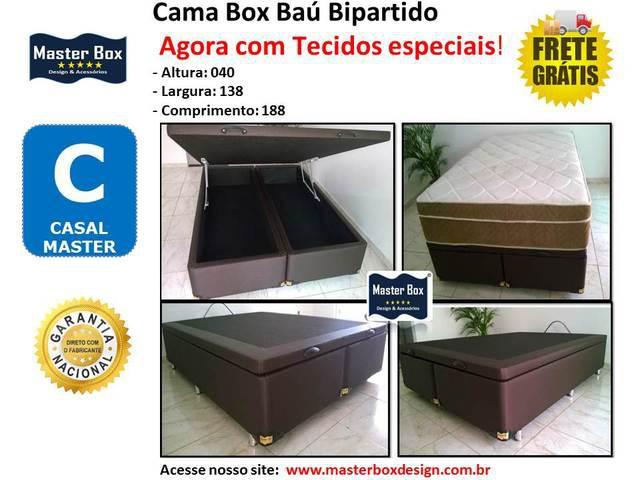 Camas Box Baú Bipartido Casal Fabrica Frete Grátis