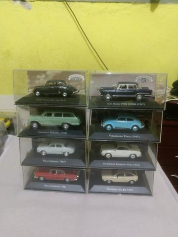 Coleção carros inesquecíveis do Brasil 8 carros
