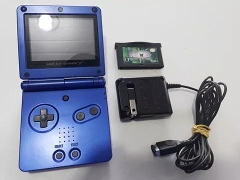 Game Boy Advance Sp Azul Ags 001 Tela 100% C/ Fonte Original