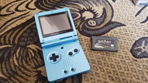 Game Boy Advance Sp Azul Funcionando Mas Leia B