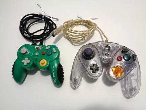 Lote C/ 2 Controles P/ Nintendo Gamecube C/ Defeito