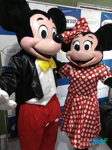 Mickey e Minie para porta de loja e festas em geral