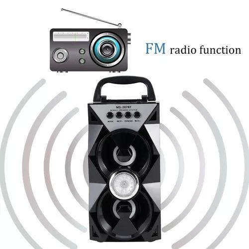 Senhorita -207bt Handheld Bluetooth Dual Alto-falante
