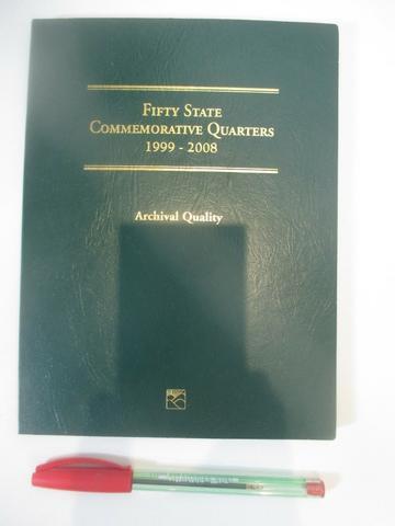 Álbum de moedas Fifty State Quarters  - Incompleto