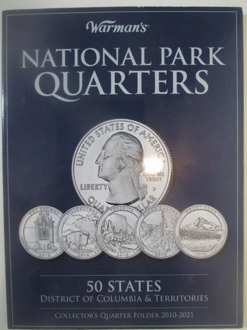 Álbum de moedas National Park Quarters 50 States +