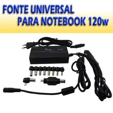 Fonte Universal para Notebook 120w +8 Adptadores