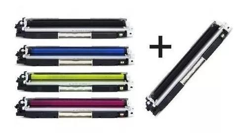 Kit 4 Toners + 1 Toner Preto Ce310 311 312 313 1025 M175 126