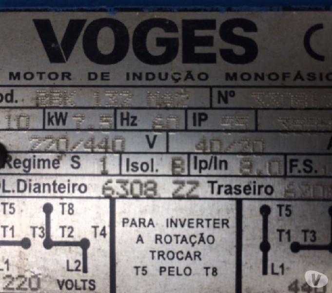 Motor Elétrico Monofásico 10 Cv 3500 Rpm Alta Rotação