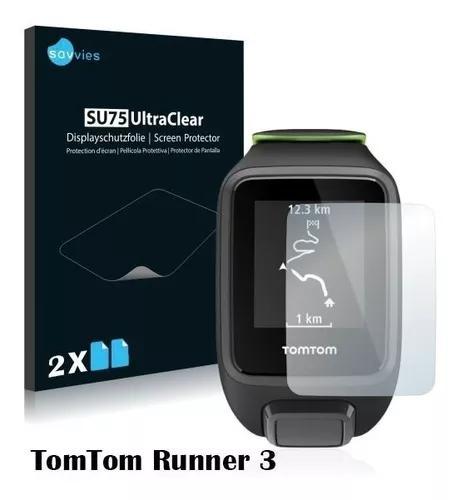 2 Pelicula Silicone Savvies Smartwatch Tomtom Runner 3