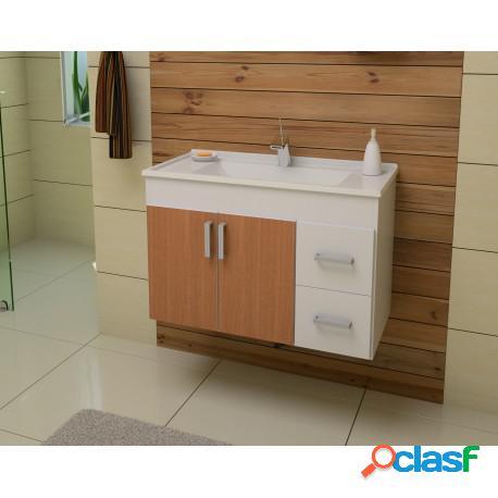 Gabinete para Banheiro Cremona 80 Sem Espelheira