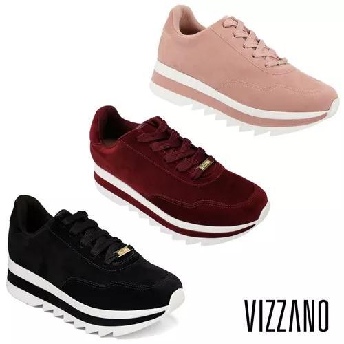 Tênis Vizzano Plataforma Tratorado 1319100 100% Original