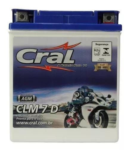 Bateria Selada Cral Moto 7 7ah Cbx Twister 250 Cb 300 Cb300