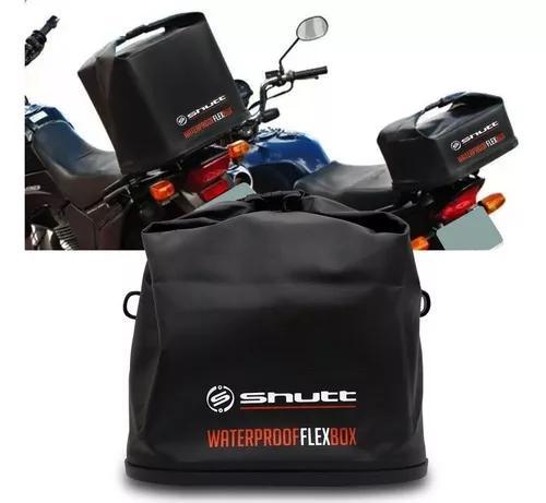 Bauleto Moto 42 L Waterproof Flex Box Dobrável Shutt Preto