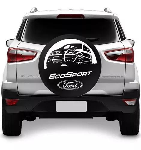 Capa De Estepe Ecosport 2003 A 2018 Ford Preto Com Cadeado