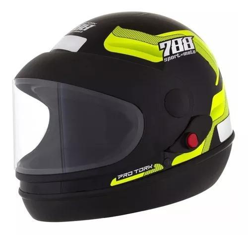 Capacete Sport Moto 788 Automatico Pro Tork San Marino