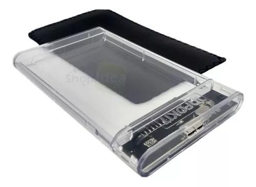 Case Hd Externo Transparent Notebook Sata 2.5 Usb 3.0 Gaveta