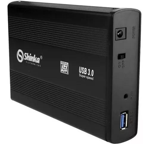 Case Para Hd Sata 3,5 Externo Usb 3.0 Pc Computador + Fonte