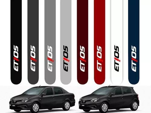 Friso Lateral Toyota Etios 2013 A 2019 Cor=carro Toyota