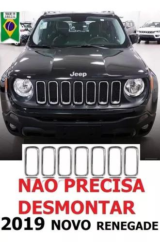 Grade Arcos Jeep Renegade 2019 Cromado Friso Moldura Pcd Spo