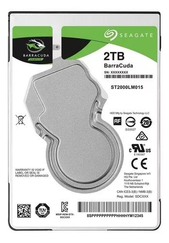 Hd 2tb Notebook Seagate Barracuda Interno 5400rpm 2,5' Sata3