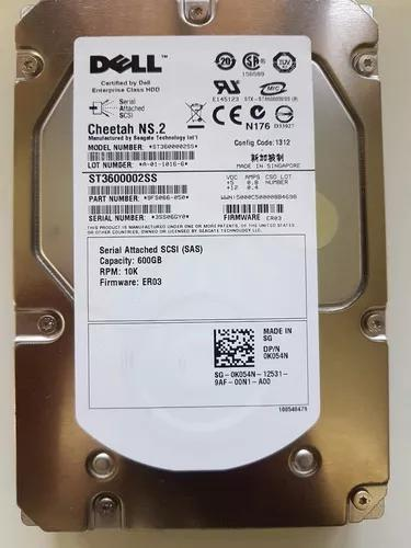 Hd Dell Cheetah Ns.2 600gb 10k Sas 3,5 St3600002ss 0k054n