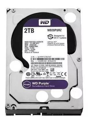 Hd Interno Wd Purple 2tb Sata 64mb 5400 Rpm - Wd20purz