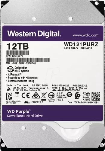 Hd Interno Western Digital Purple 12tb Sata3 6gb/s Wd121purz