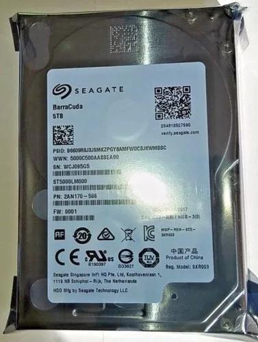 Hd Seagate 5tb Barracuda 5400 Rpm 128mb Cache Sata 2.5' 15mm
