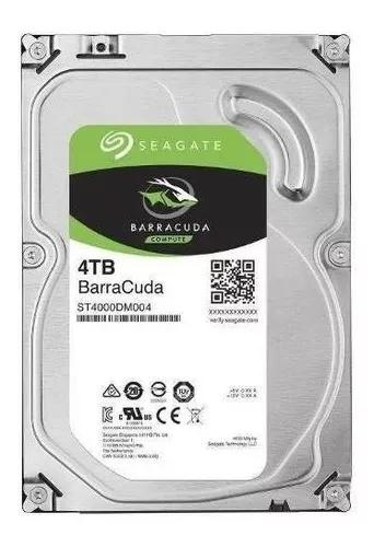 Hd Seagate Barracuda 4tb 4000gb 64mb Sata3 6gb/s St4000dm004