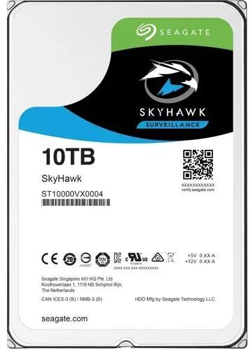 Hd Skyhawk 10tb 7200rpm 256mb Seagate Sata 3,5 St10000vx0004