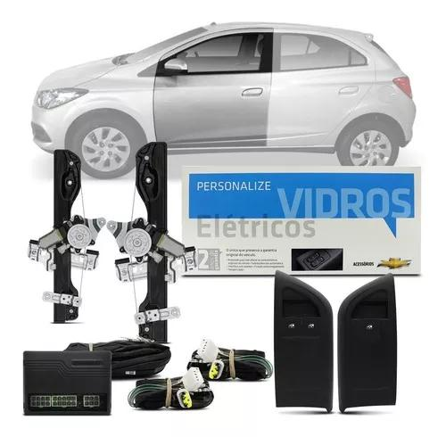 Kit Vidro Elétrico Onix 4p Dianteiro Até 2016 Sensorizado