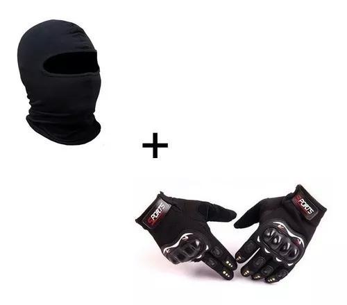 Luva Moto Frio Intenso Sport Bike+touca Ninja Balaclava