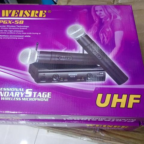Microfone Sem Fio Uhf Profissional Duplo
