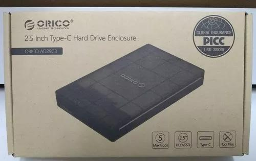 Orico Ad29c3 Case Para Hd/ssd Sata 2.5 Usb 3.1 Type-c -